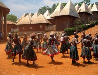 Traditionnal dance in Bamendjou king's palace